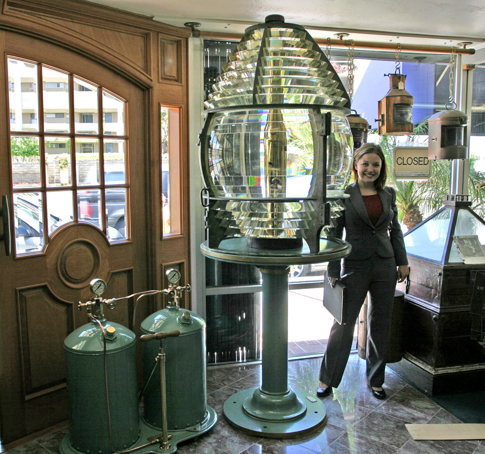 Chance Brothers Fresnel Lighthouse Lens With Kerosene