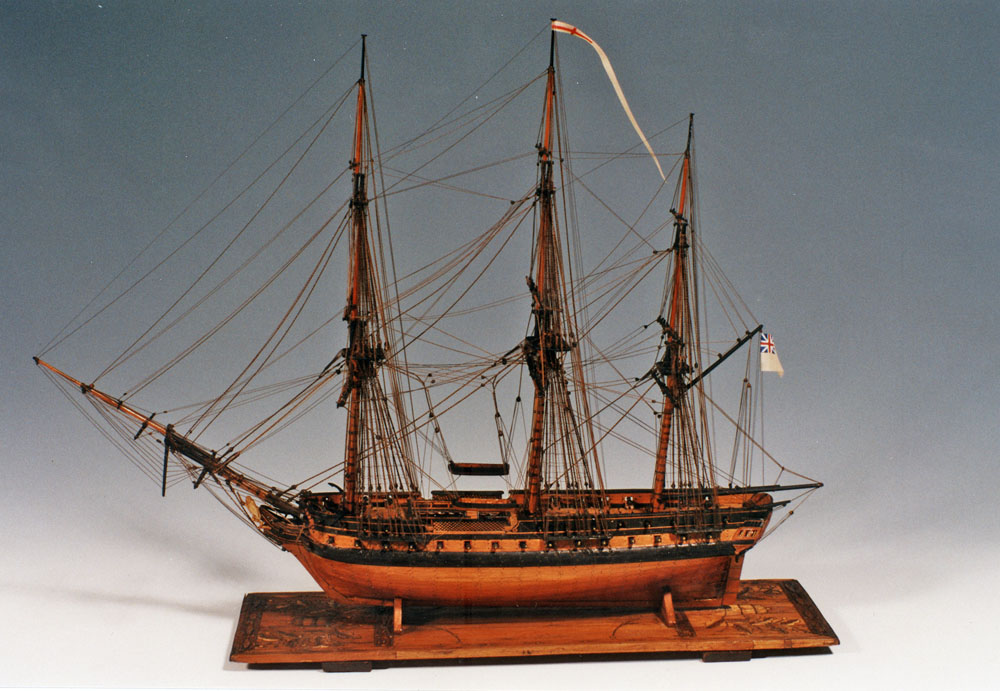 Napoleonic Prisoner Of War Boxwood Ship Model British
