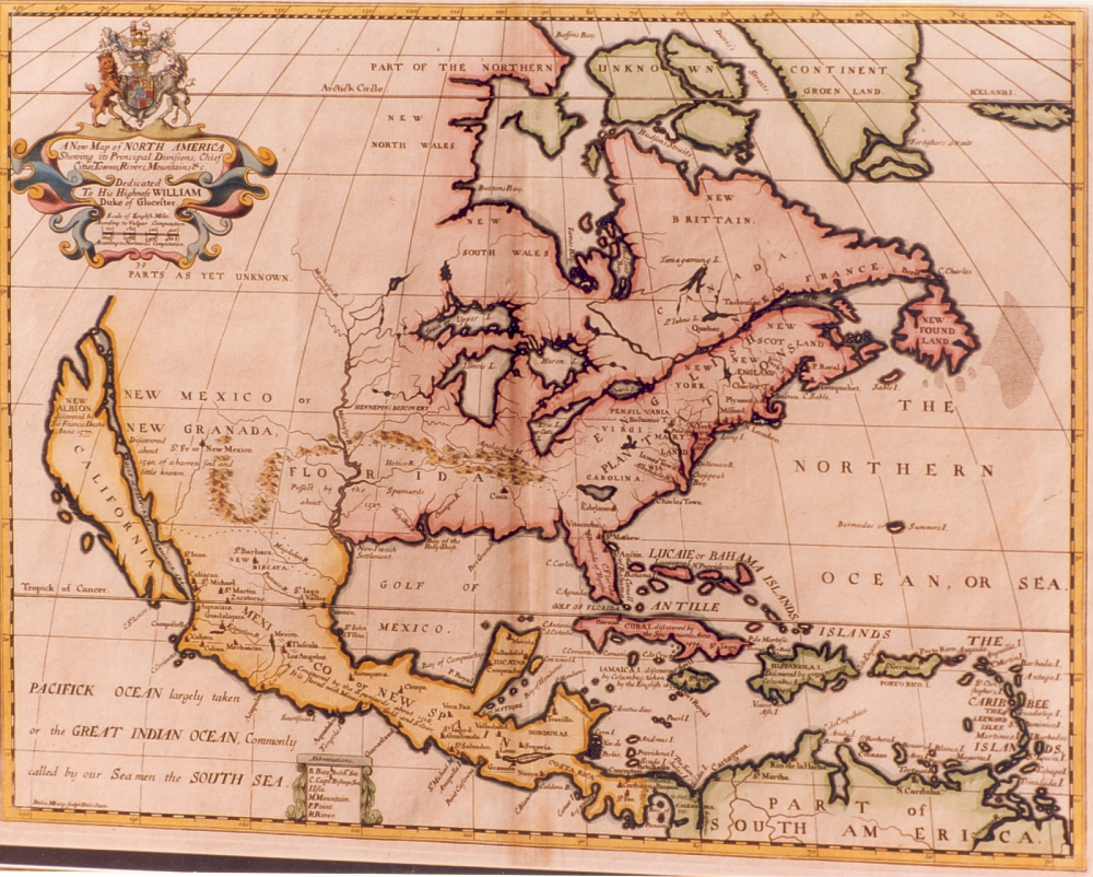 Map Of North America 1700 Vallejo Gallery - 1700-us-map