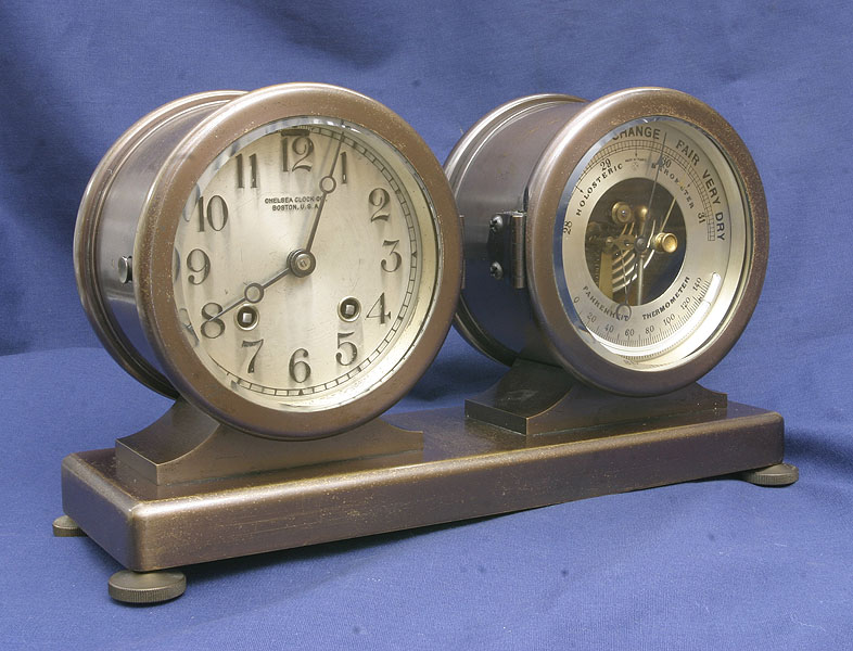 Bell Clock And Barometer Set