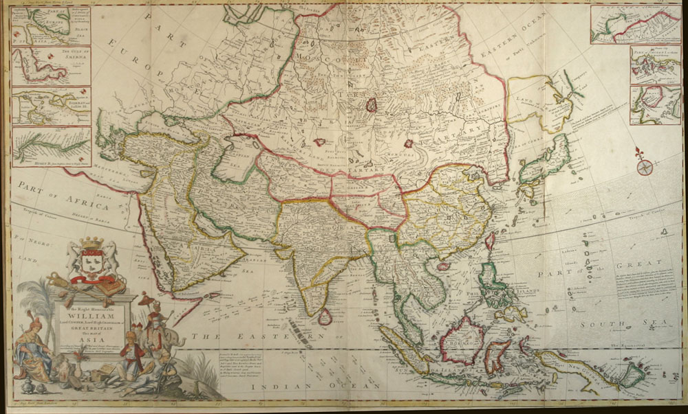 Map Of Asia by Frederic de Wit  Vallejo Maritime Gallery 18th
