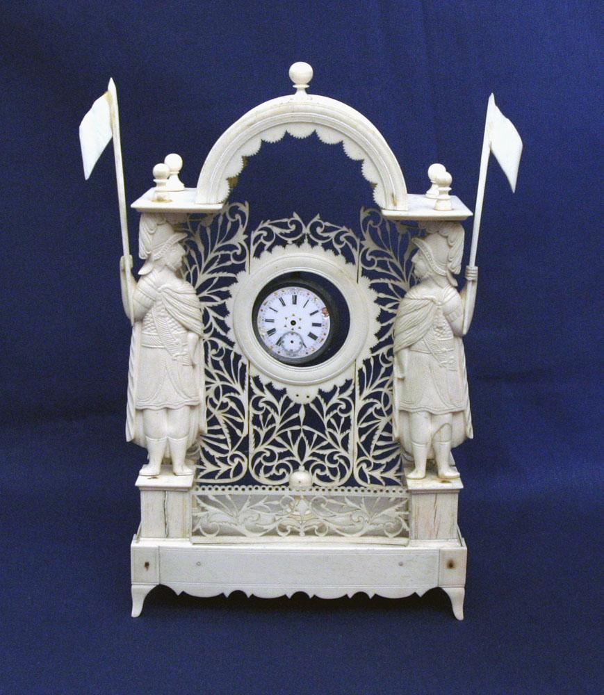 Intricate Carved Bone Clock Tower :: :: Vallejo Gallery