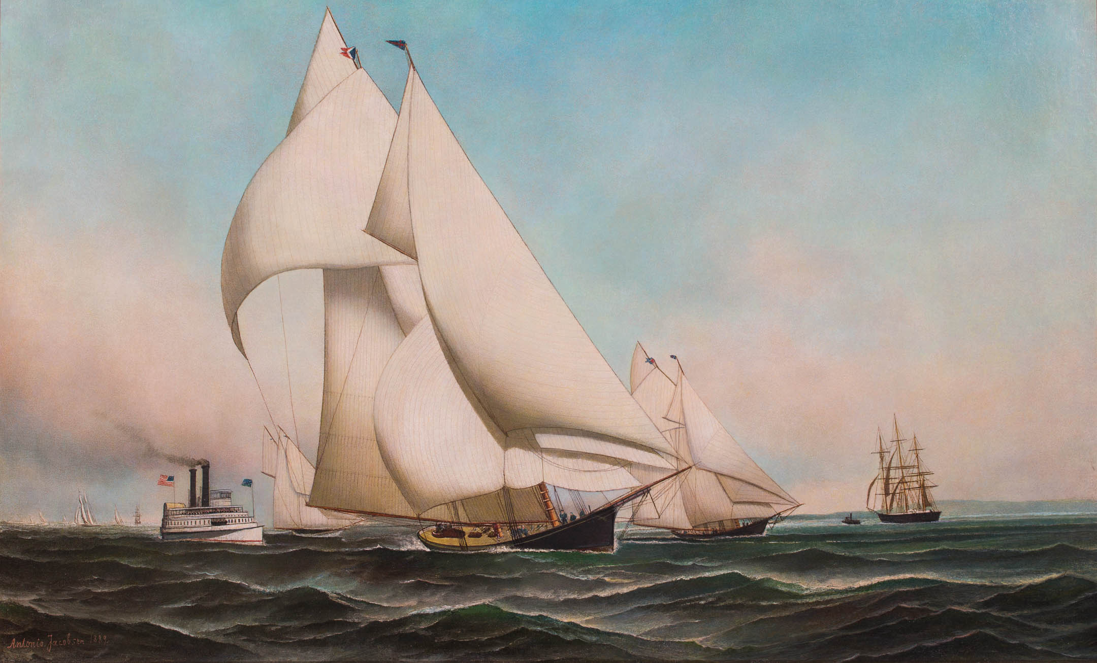 A centerboard schooner of the New York Yacht Club JAMES GALE TYLE